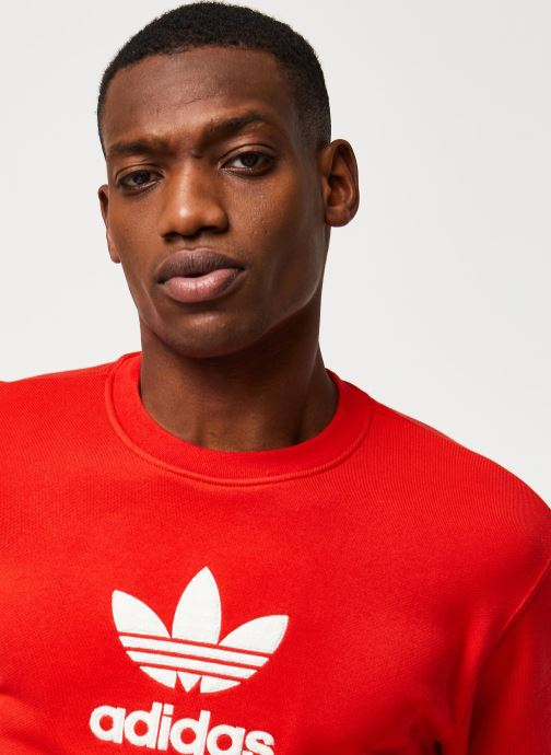 Vêtements adidas originals Adiclr Prm Crew Rouge vue face
