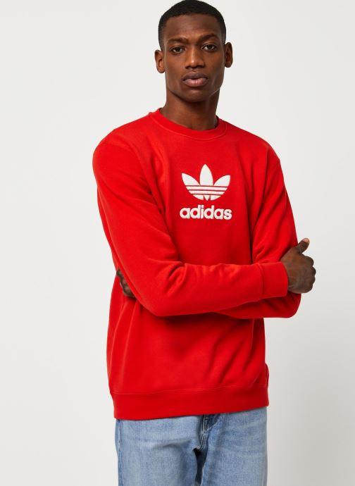 Vêtements adidas originals Adiclr Prm Crew Rouge vue droite
