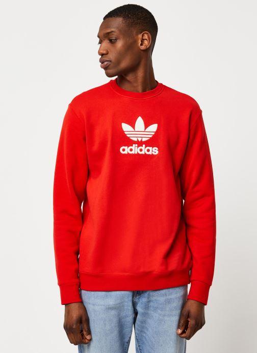 Vêtements adidas originals Adiclr Prm Crew Rouge vue détail/paire