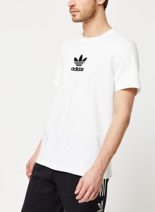 Vêtements adidas originals Adiclr Prm Tee Blanc vue droite