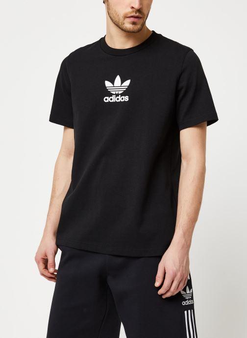Vêtements adidas originals Adiclr Prm Tee Noir vue droite