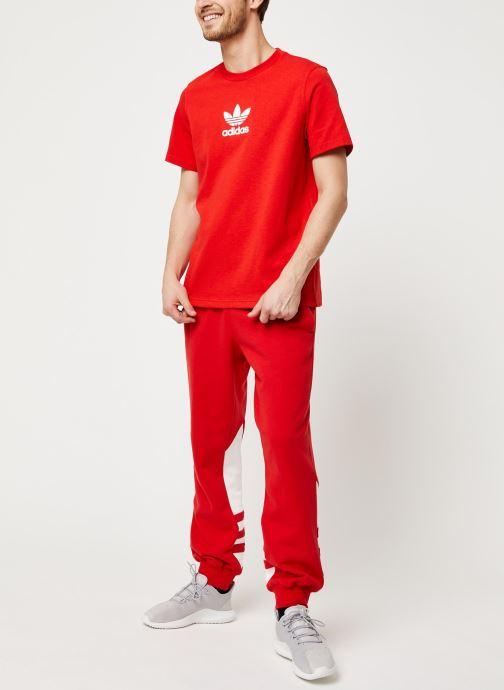 Vêtements adidas originals Adiclr Prm Tee Rouge vue bas / vue portée sac