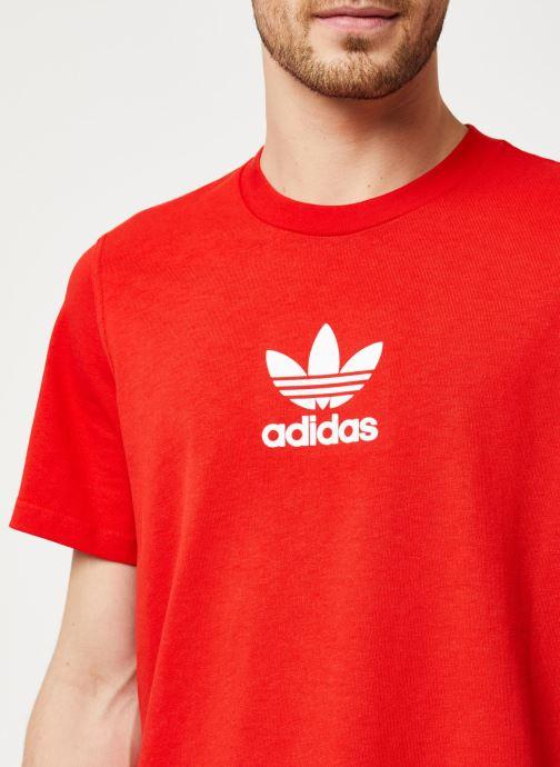 Vêtements adidas originals Adiclr Prm Tee Rouge vue face