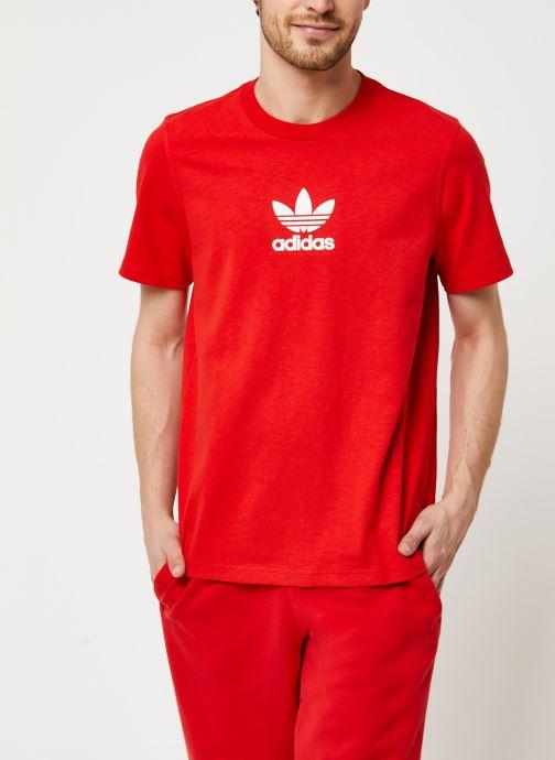 Vêtements adidas originals Adiclr Prm Tee Rouge vue droite