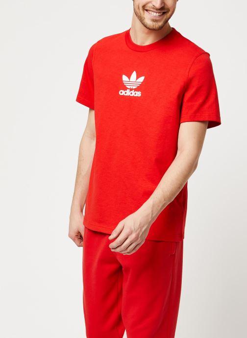 Vêtements adidas originals Adiclr Prm Tee Rouge vue détail/paire