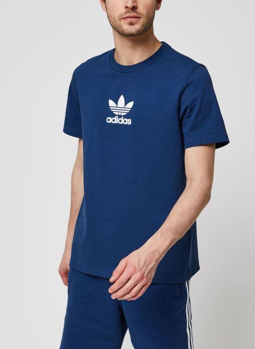Vêtements adidas originals Adiclr Prm Tee Bleu vue droite