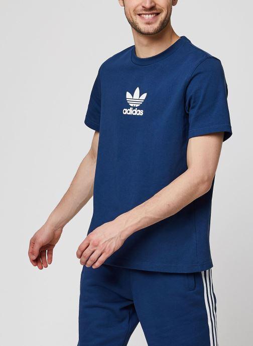 Vêtements adidas originals Adiclr Prm Tee Bleu vue détail/paire