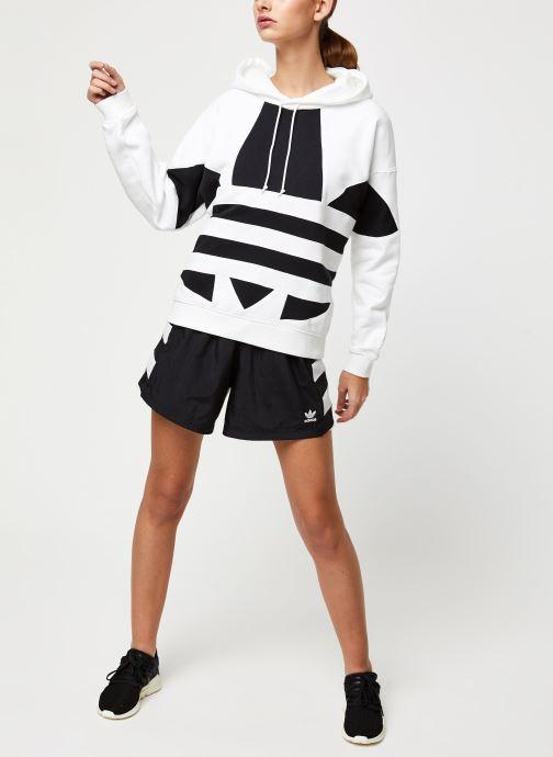 Vêtements adidas originals Lrg Logo Hoodie Blanc vue bas / vue portée sac