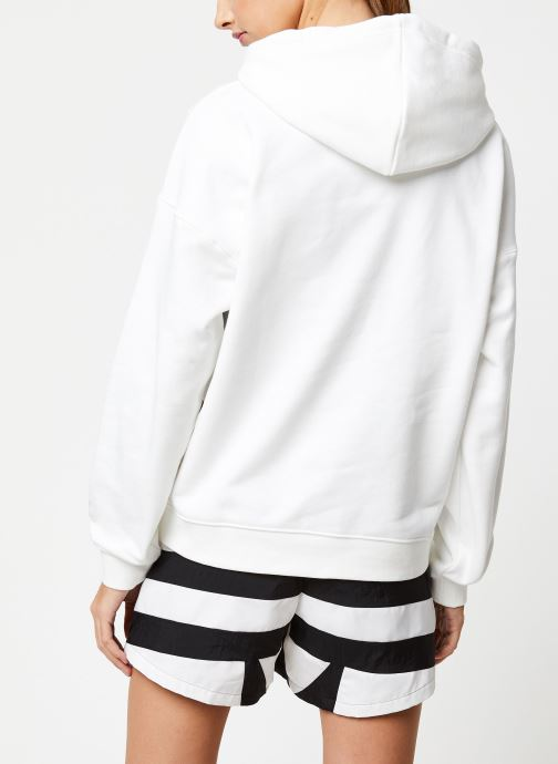 Vêtements adidas originals Lrg Logo Hoodie Blanc vue portées chaussures