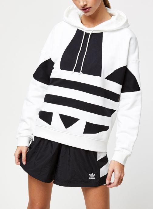 Vêtements adidas originals Lrg Logo Hoodie Blanc vue droite