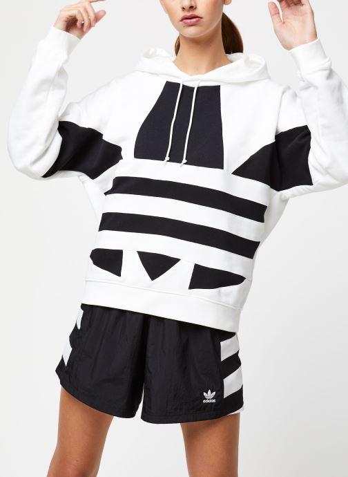 Vêtements adidas originals Lrg Logo Hoodie Blanc vue détail/paire