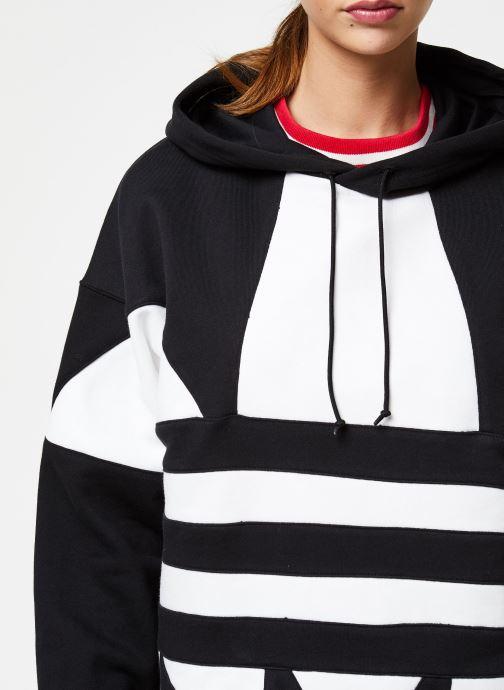 Vêtements adidas originals Lrg Logo Hoodie Noir vue face