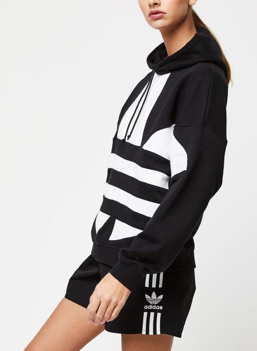 Vêtements adidas originals Lrg Logo Hoodie Noir vue droite