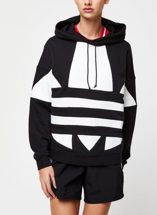 Vêtements adidas originals Lrg Logo Hoodie Noir vue détail/paire
