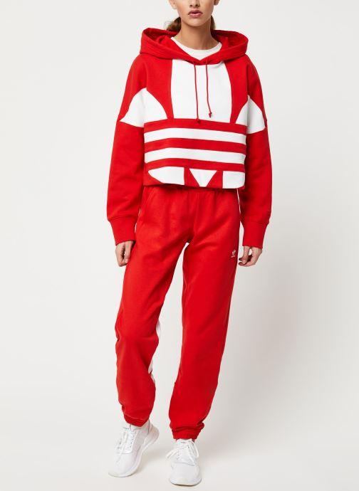 Vêtements adidas originals Lrg Logo Sweat Rouge vue bas / vue portée sac