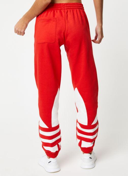 Vêtements adidas originals Lrg Logo Sweat Rouge vue portées chaussures