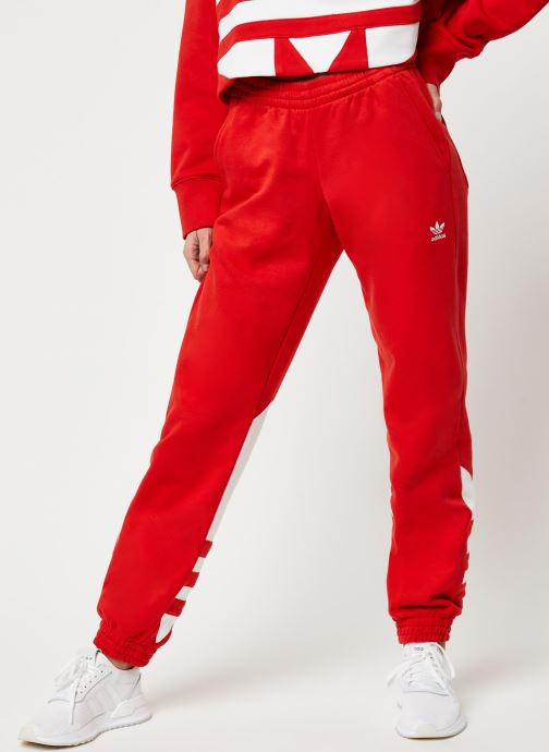 Vêtements adidas originals Lrg Logo Sweat Rouge vue détail/paire