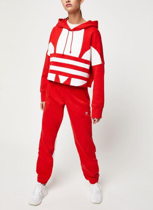 Vêtements adidas originals Lrg Logo C-Hood Rouge vue bas / vue portée sac