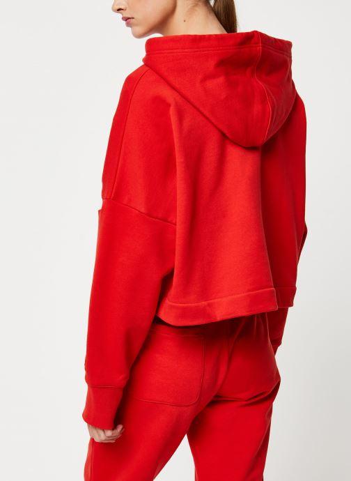 Vêtements adidas originals Lrg Logo C-Hood Rouge vue portées chaussures