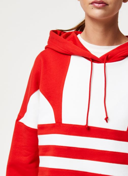 Vêtements adidas originals Lrg Logo C-Hood Rouge vue face