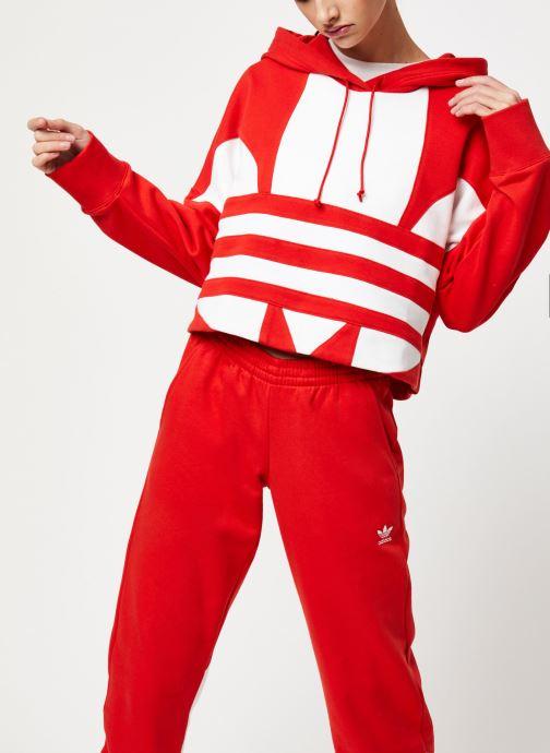 Vêtements adidas originals Lrg Logo C-Hood Rouge vue détail/paire