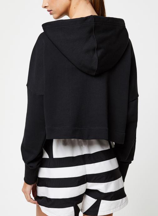 Vêtements adidas originals Lrg Logo C-Hood Noir vue portées chaussures