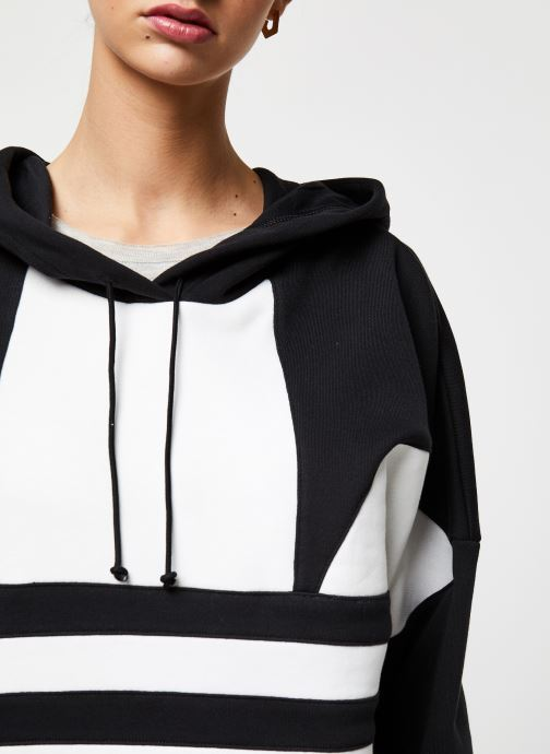 Vêtements adidas originals Lrg Logo C-Hood Noir vue face