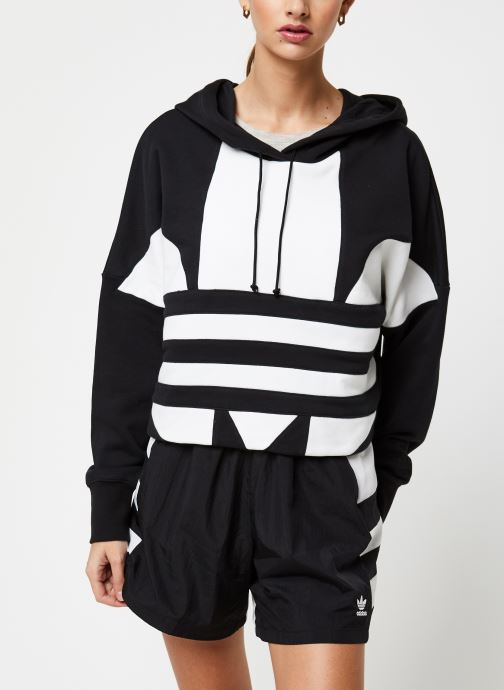 Vêtements adidas originals Lrg Logo C-Hood Noir vue droite