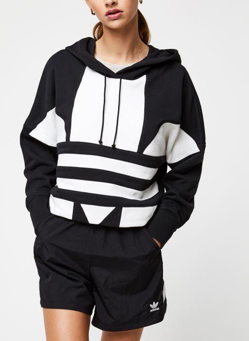 Vêtements adidas originals Lrg Logo C-Hood Noir vue détail/paire