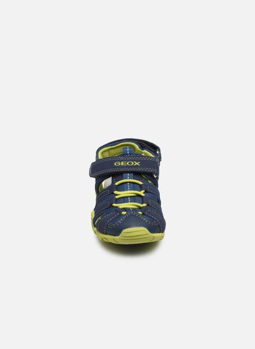 Sandales et nu-pieds Geox B Sandal Kraze/B0224A Bleu vue portées chaussures