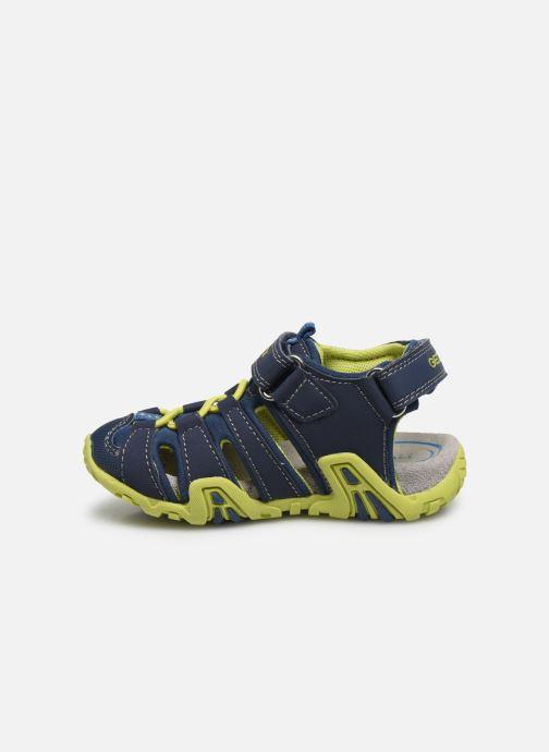 Sandales et nu-pieds Geox B Sandal Kraze/B0224A Bleu vue face