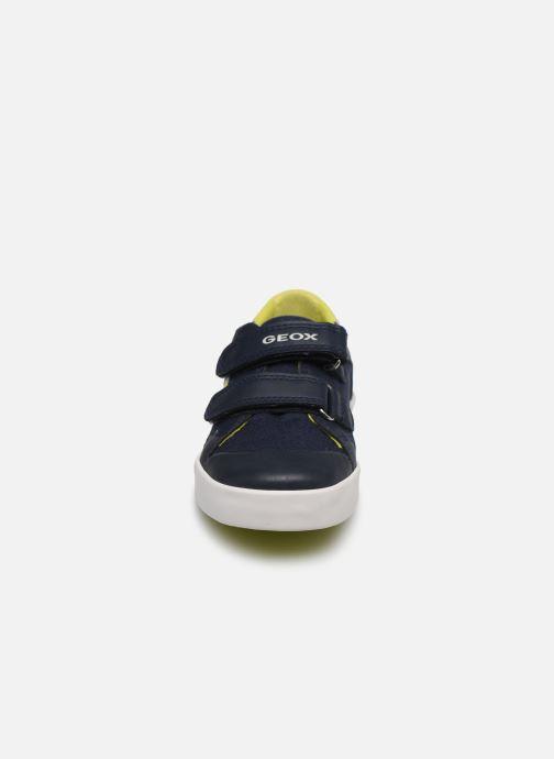 Baskets Geox B Gisli Boy/B021NB Bleu vue portées chaussures