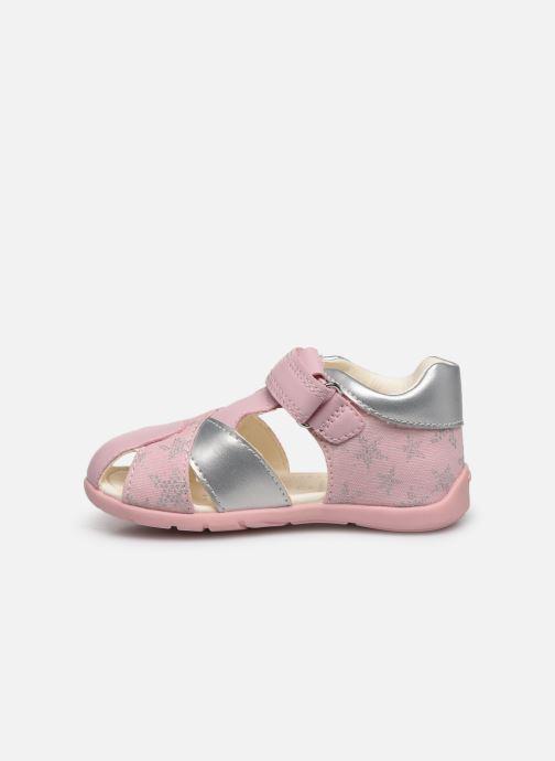 Sandales et nu-pieds Geox B Elthan Girl/B021QA Rose vue face