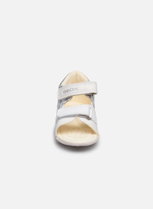 Sandalen Geox B Sandal Nicely/B0238A weiß schuhe getragen