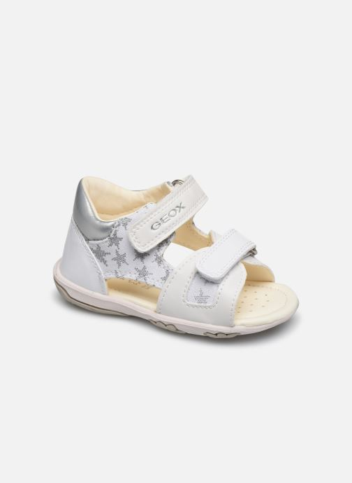 Sandals Geox B Sandal Nicely/B0238A White detailed view/ Pair view