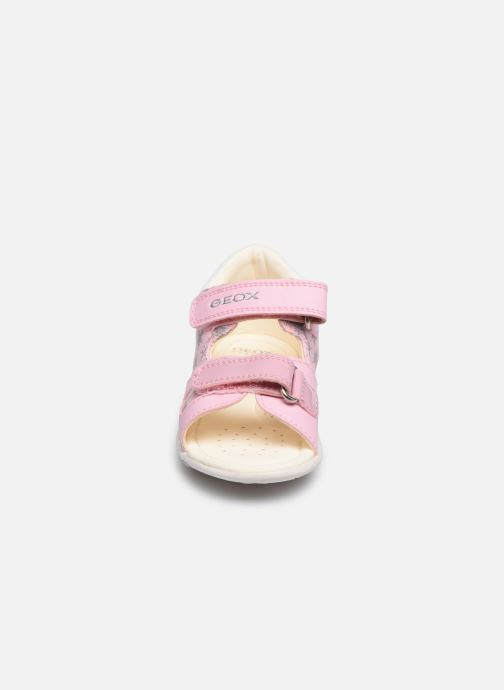 Sandalen Geox B Sandal Nicely/B0238A rosa schuhe getragen
