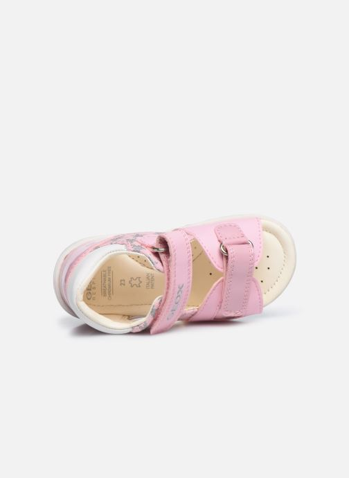 Sandales et nu-pieds Geox B Sandal Nicely/B0238A Rose vue gauche