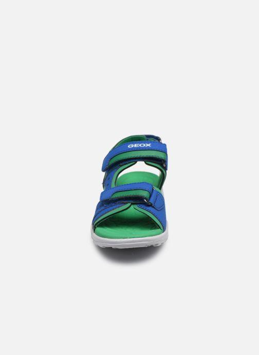 Sandalen Geox J Vaniett Boy/J025XA blau schuhe getragen