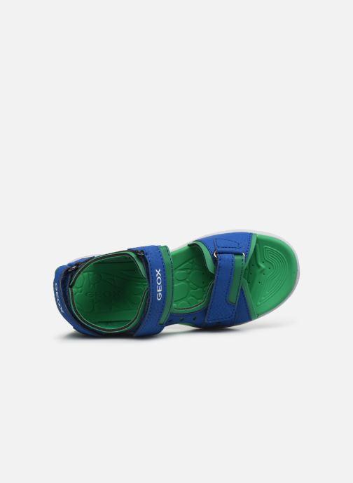 Sandalen Geox J Vaniett Boy/J025XA blau ansicht von links