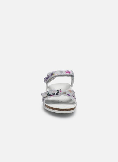 Sandals Geox J Adriel Girl/J028MC Silver model view