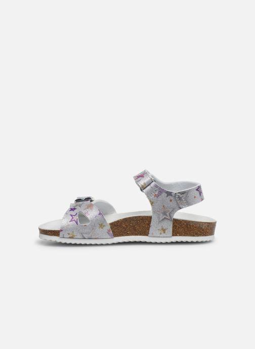 Sandals Geox J Adriel Girl/J028MC Silver front view