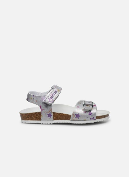 Sandals Geox J Adriel Girl/J028MC Silver back view