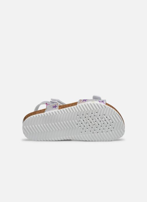 Sandals Geox J Adriel Girl/J028MC Silver view from above