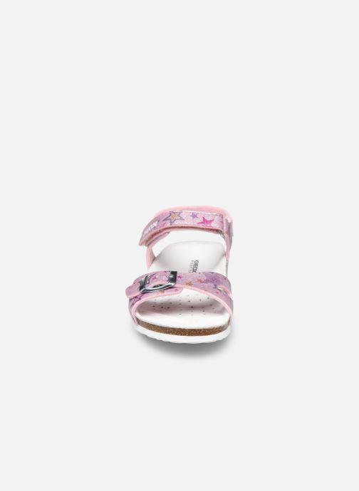 Sandales et nu-pieds Geox J Adriel Girl/J028MC Rose vue portées chaussures