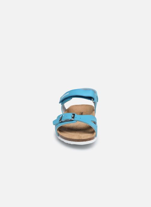 Sandalen Geox J Adriel Girl/J028MC blau schuhe getragen