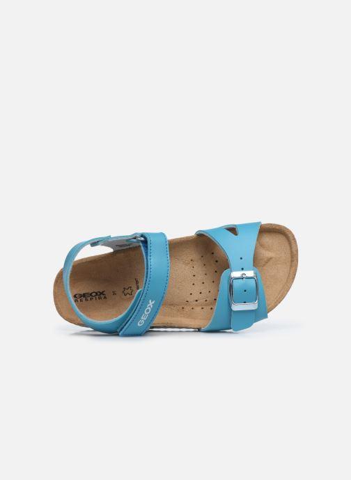Sandalen Geox J Adriel Girl/J028MC blau ansicht von links