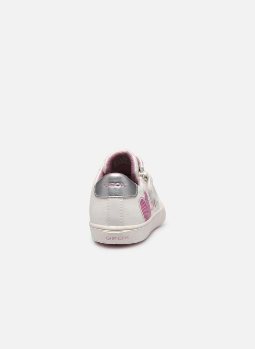 Sneakers Geox J Gisli Girl/J024NB Bianco immagine destra