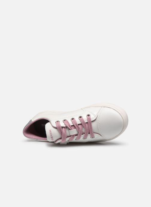 Sneakers Geox J Gisli Girl/J024NB Bianco immagine sinistra