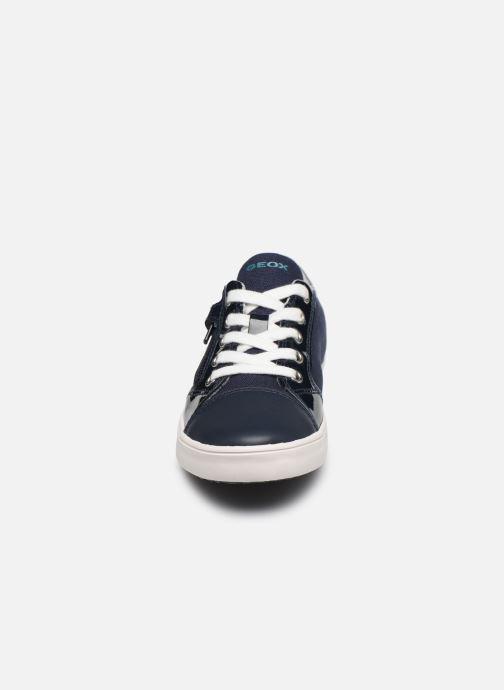 Baskets Geox J Gisli Girl/J024NB Bleu vue portées chaussures
