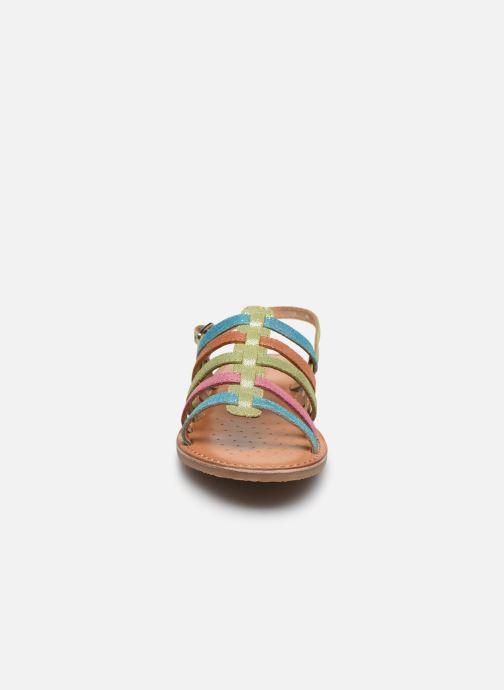 Sandales et nu-pieds Geox J Sandal Eolie Girl/J02BSA Multicolore vue portées chaussures